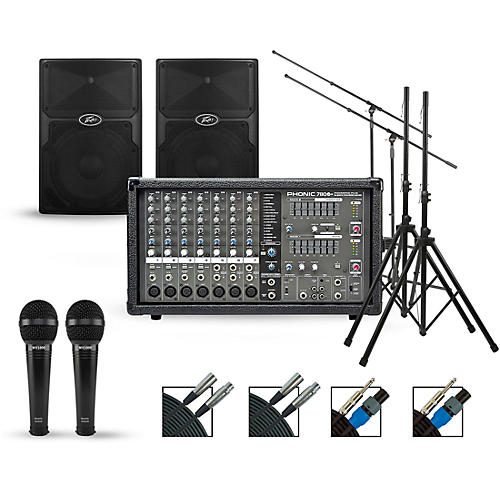 Phonic Complete PA Package with Powerpod 780 Plus Mixer and Peavey PVX Speakers thumbnail