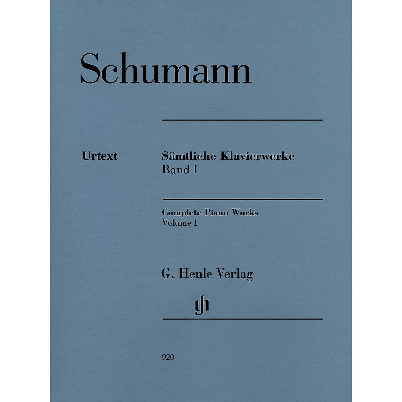 G. Henle Verlag Complete Piano Works - Volume 1 Henle Music Softcover by Robert Schumann Edited by Ernst Herttrich thumbnail