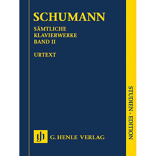 G. Henle Verlag Complete Piano Works - Volume 2 (Study Score) Henle Study Scores Series Softcover by Robert Schumann thumbnail