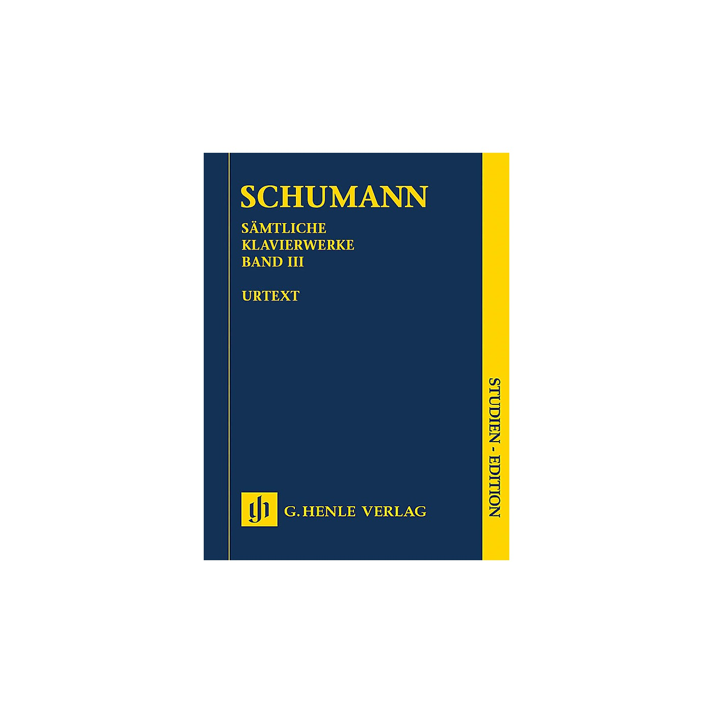 G. Henle Verlag Complete Piano Works - Volume 3 (Study Score) Henle Study Scores Series Softcover by Robert Schumann thumbnail