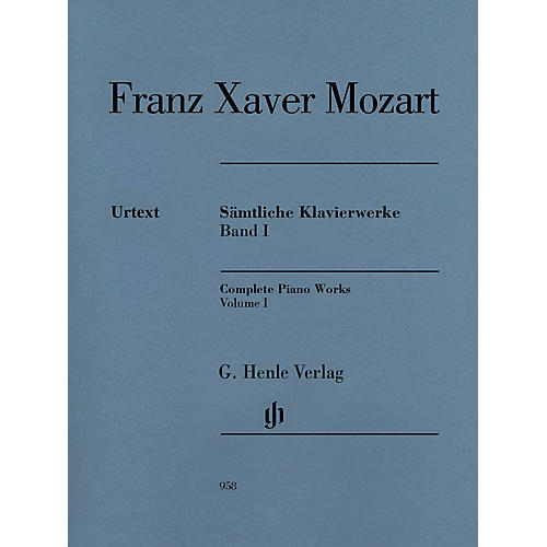G. Henle Verlag Complete Piano Works, Vol. I Henle Music Folios Softcover by Franz Xaver Mozart Edited by Nottelmann thumbnail