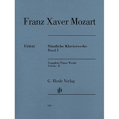 G. Henle Verlag Complete Piano Works, Vol. II Henle Music Folios Softcover by Franz Xaver Mozart Edited by Nottelmann thumbnail
