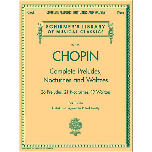 G. Schirmer Complete Preludes, Nocturnes And Waltzes for Piano By Chopin thumbnail