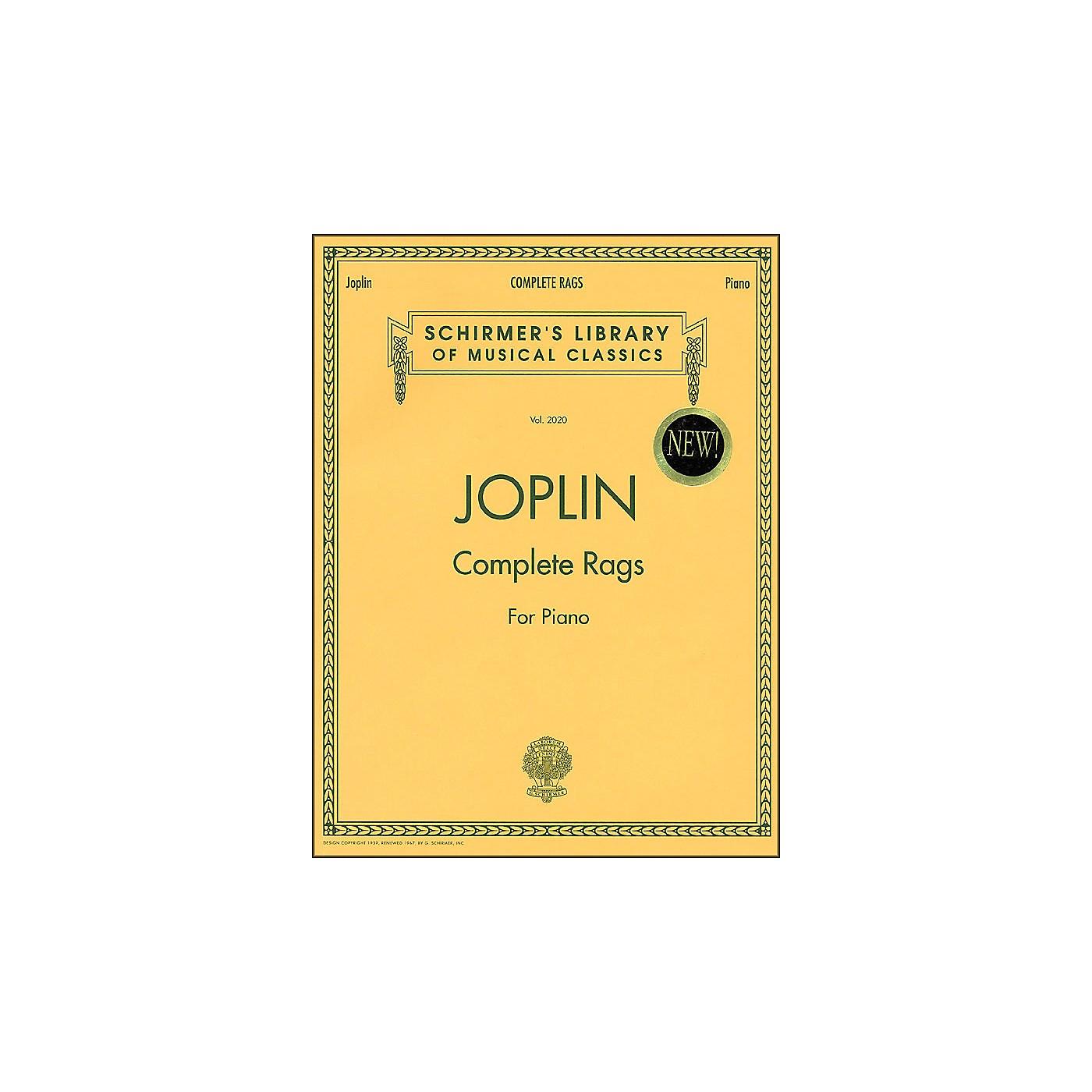 G. Schirmer Complete Rags Piano By Joplin Scott thumbnail