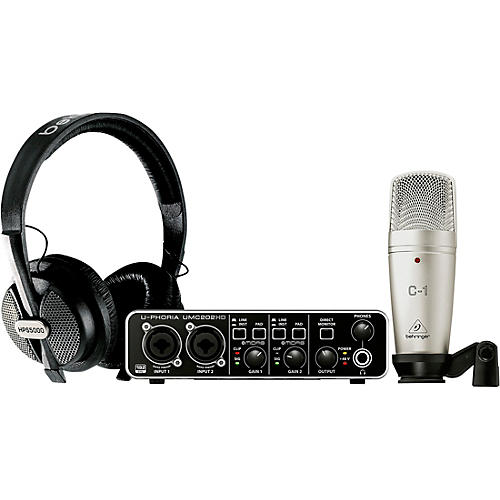 Behringer Complete Recording Bundle with High Definition USB Audio Interface, Condenser Microphone, Studio Headphones and More thumbnail