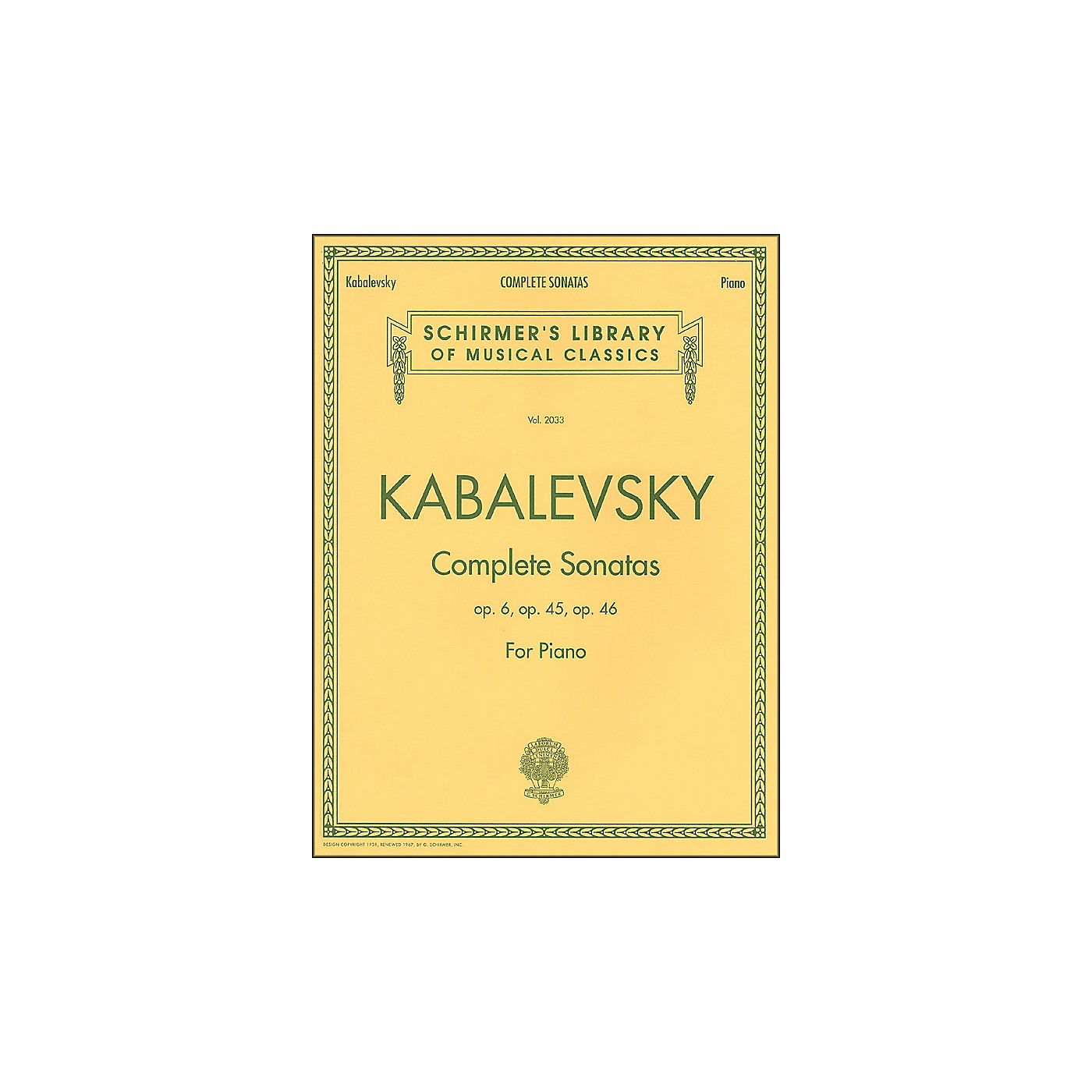 G. Schirmer Complete Sonatas Opus 6, 45, 46 By Kabalevsky thumbnail