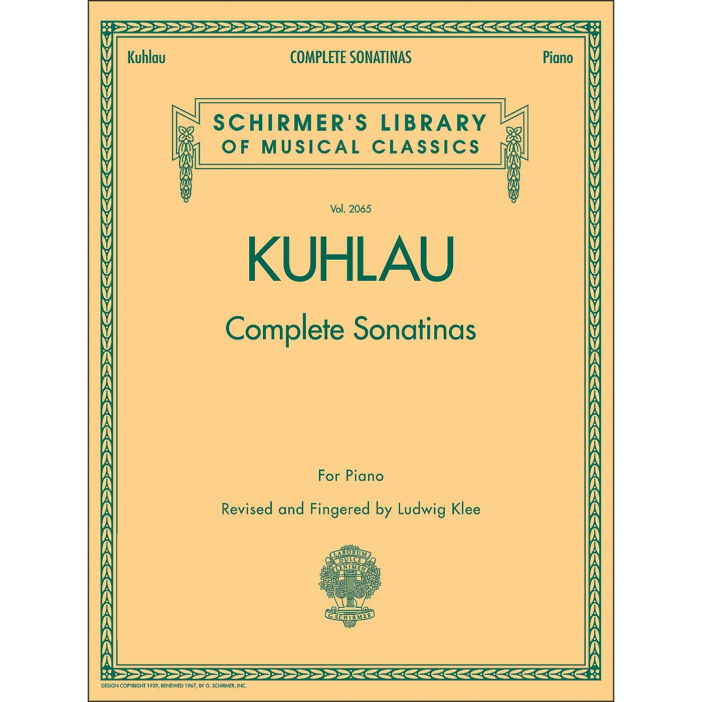 G. Schirmer Complete Sonatinas for Piano Vol. 2065 By Kuhlau thumbnail