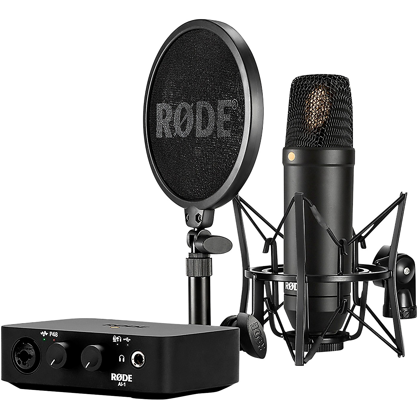 Rode Complete Studio Kit with NT1 Microphone and AI-1 Interface thumbnail