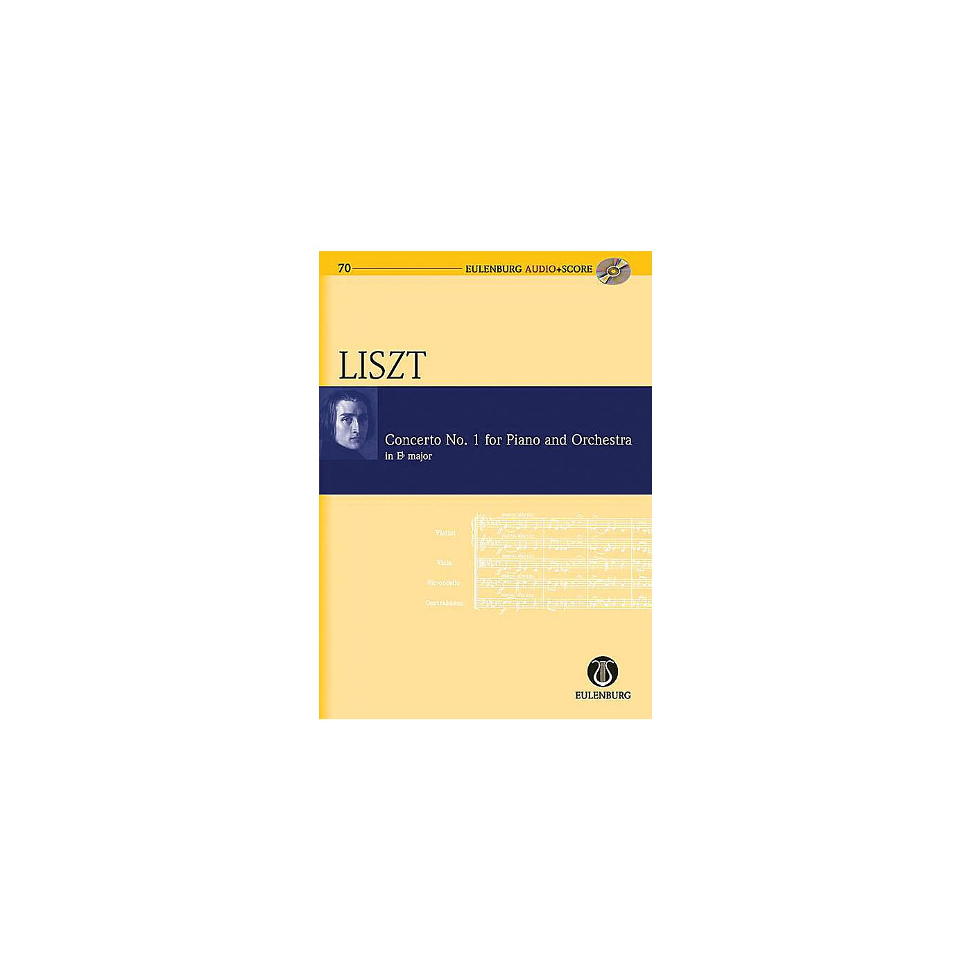 Eulenburg Conc No. 1 for Piano and Orchestra in E-flat Major Eulenberg Audio plus Score w/ CD by Franz Liszt thumbnail
