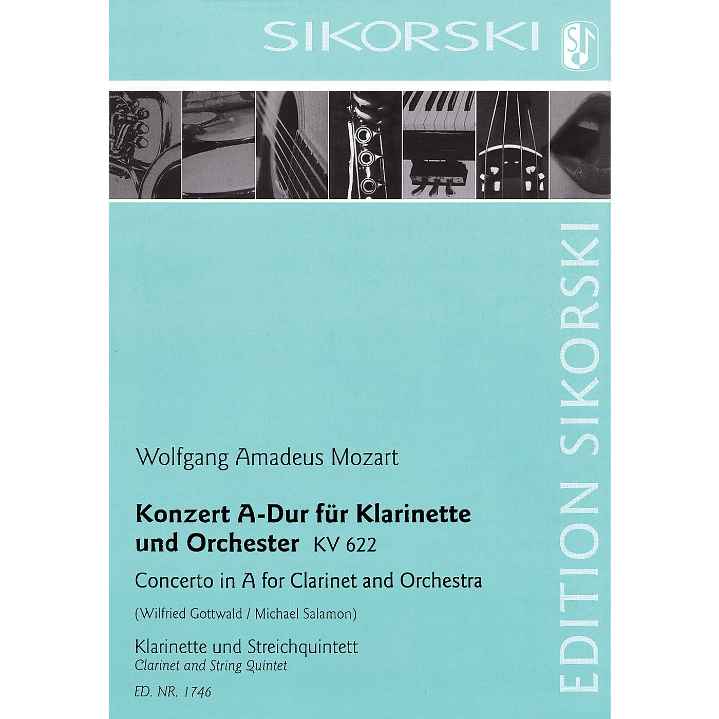 Sikorski Conc in A Major for Clarinet and Orchestra, K. 622 Ensemble Softcover by Mozart Arranged by Gottwald thumbnail