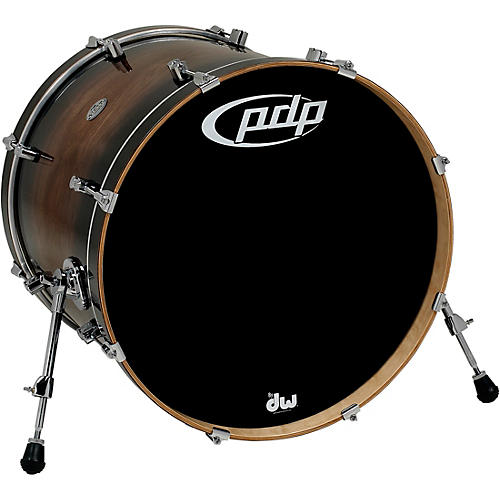 PDP by DW Concept Exotic Series Bass Drum Walnut to Charcoal Burst thumbnail