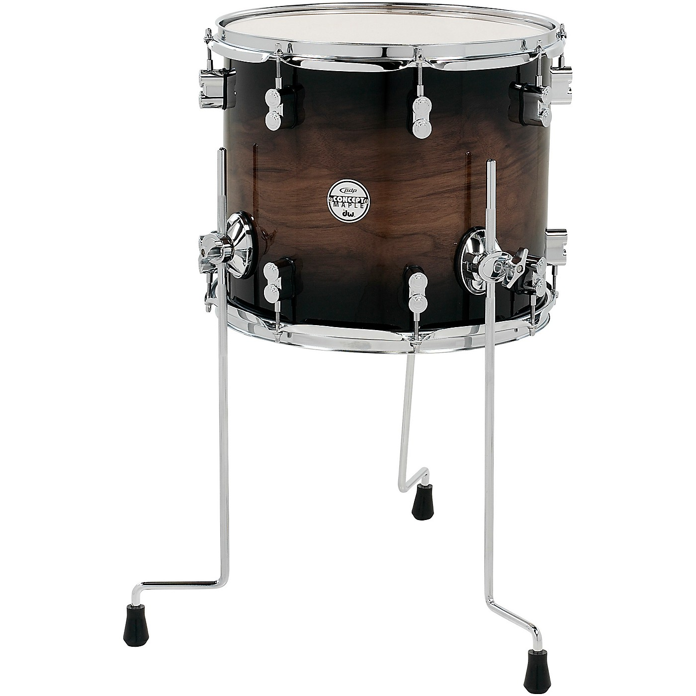 PDP by DW Concept Exotic Series Floor Tom Walnut to Charcoal Burst thumbnail
