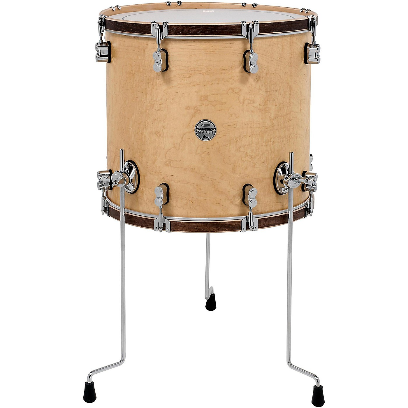 PDP by DW Concept Maple Classic Floor Tom with Tobacco Hoops thumbnail