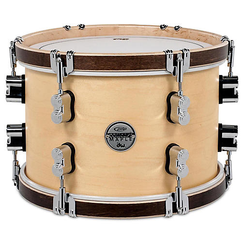PDP by DW Concept Maple Classic Natural with Tobacco Hoops Tom thumbnail
