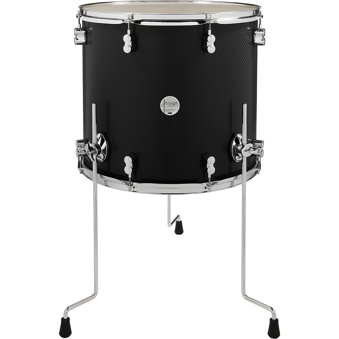PDP by DW Concept Maple Floor Tom with Chrome Hardware thumbnail