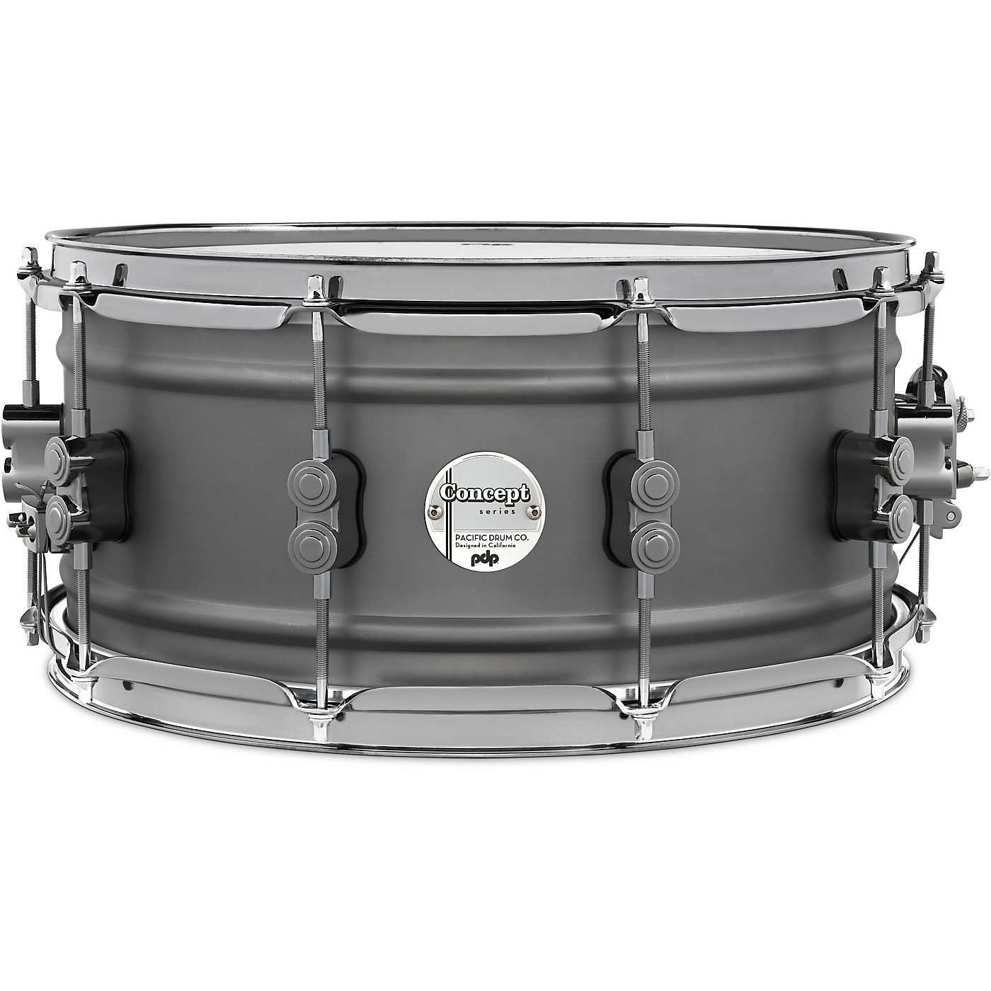 PDP by DW Concept Series Gun Metal Over Steel Snare Drum with Black Nickel Hardware thumbnail