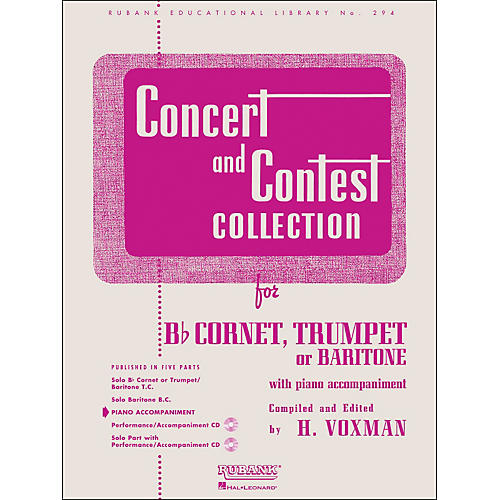 Hal Leonard Concert And Contest Collection - B Flat Cornet Trumpet Or Solo Baritone with Piano Accompaniment thumbnail
