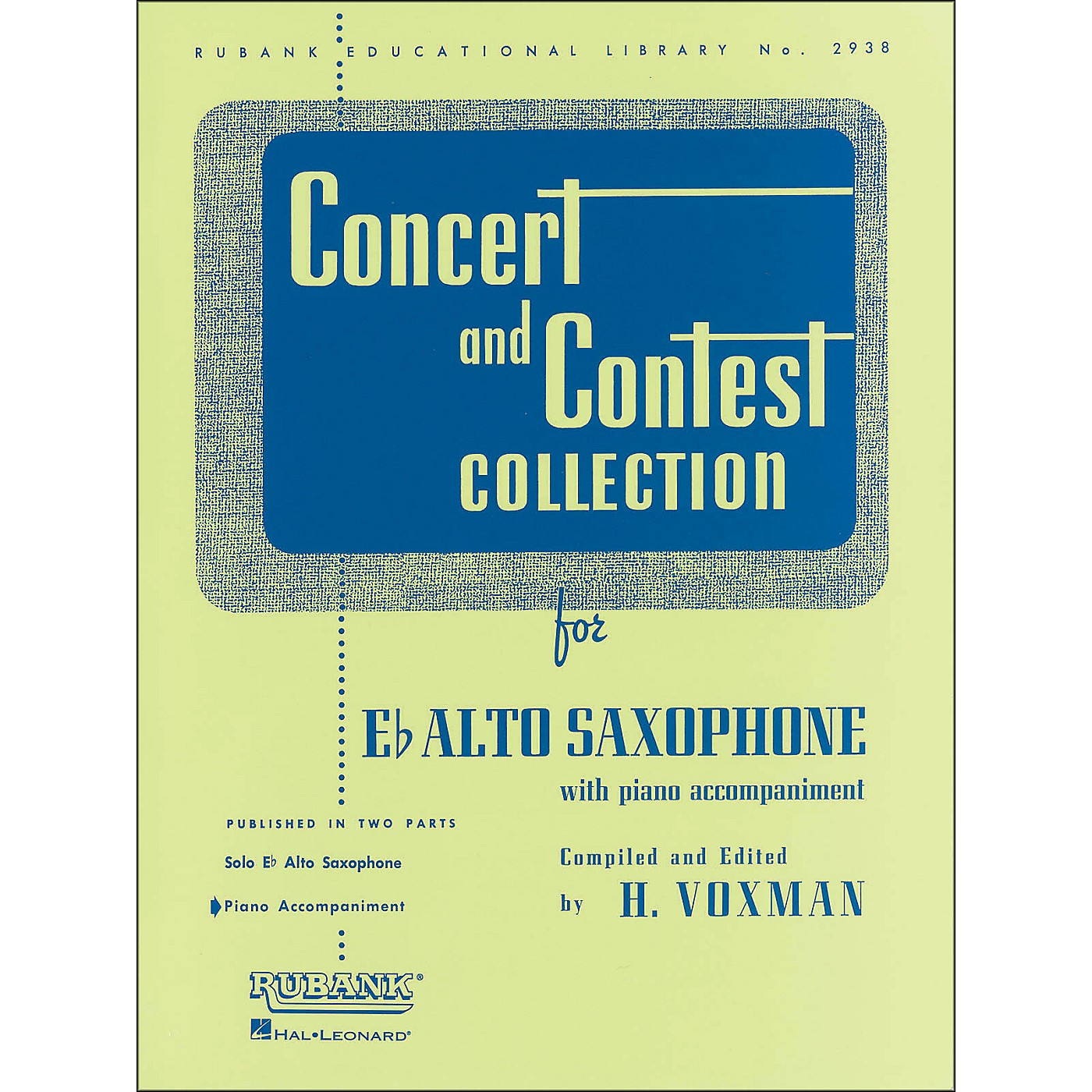 Hal Leonard Concert And Contest Collection E Flat Alto Saxophone Piano Accompaniment thumbnail
