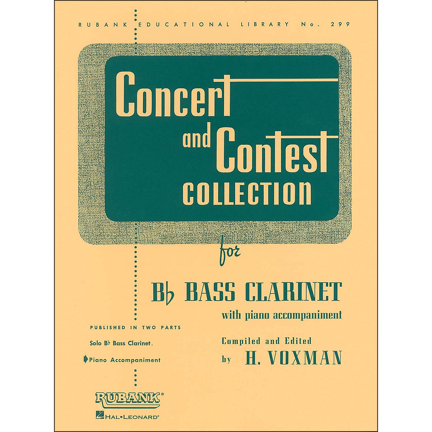 Hal Leonard Concert And Contest Collection for B Flat Bass Clarinet for Piano Accompaniment Only thumbnail