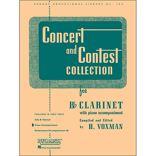 Hal Leonard Concert And Contest Collection for B Flat Clarinet Piano Accompaniment thumbnail
