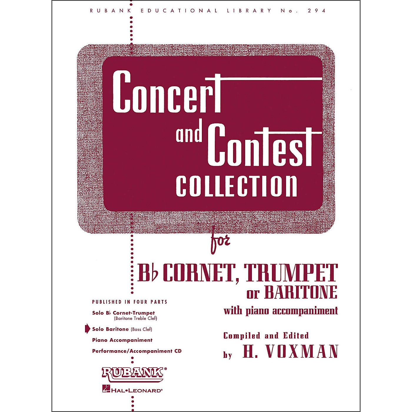 Hal Leonard Concert And Contest Collection for Baritone B.C. Solo Part Only thumbnail