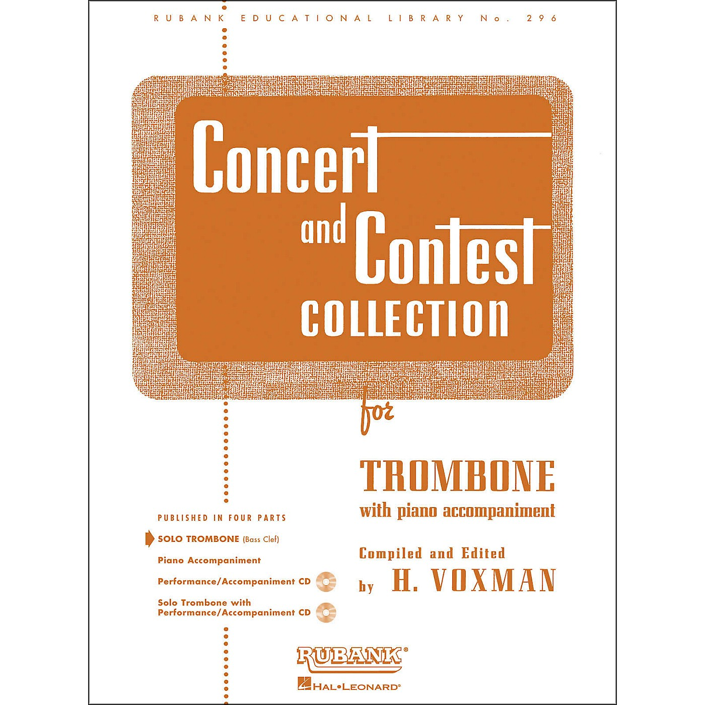 Hal Leonard Concert And Contest Collection for Solo Trombone Solo Part Only thumbnail