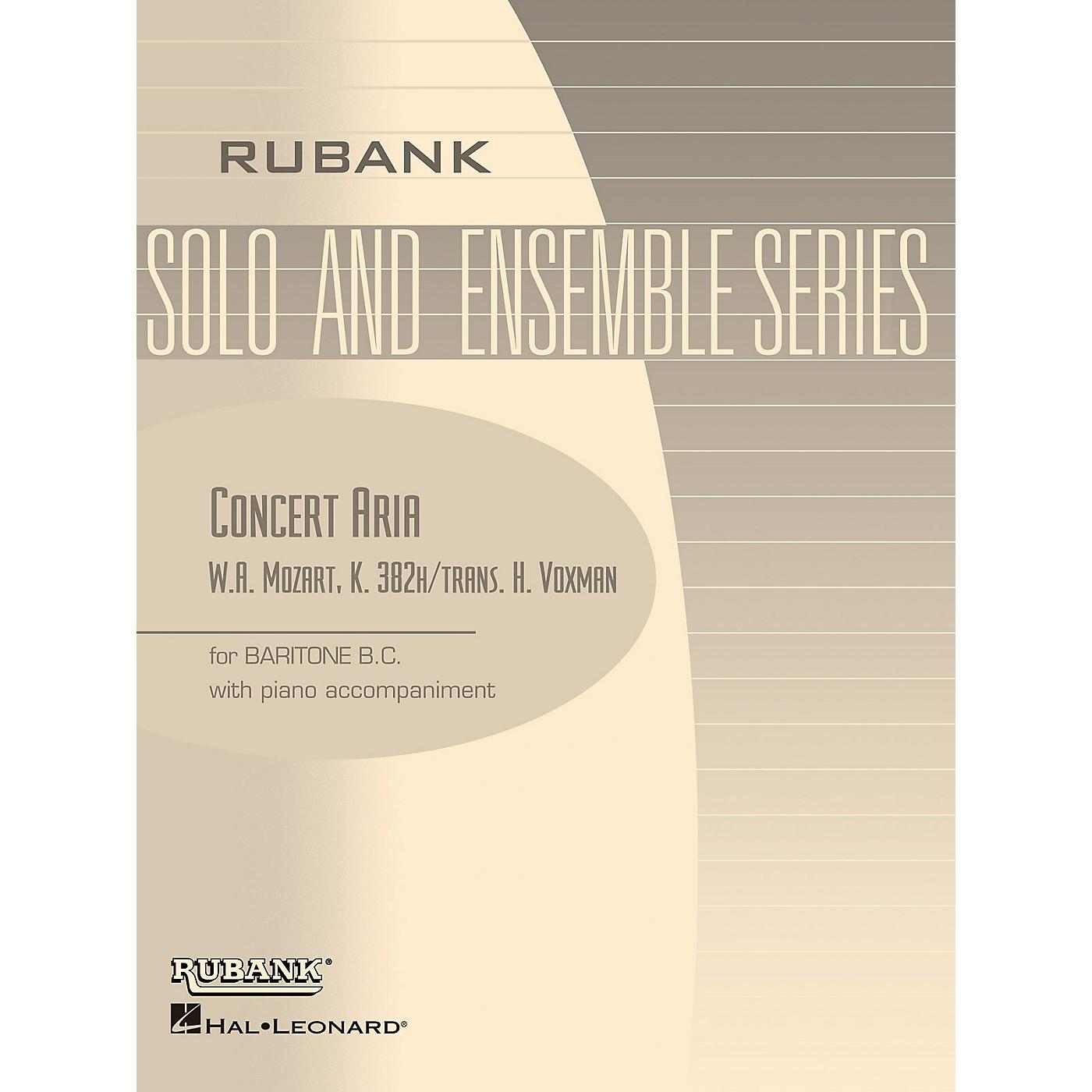 Rubank Publications Concert Aria, K. 382h (Baritone B.C. Solo with Piano - Grade 3.5) Rubank Solo/Ensemble Sheet Series thumbnail