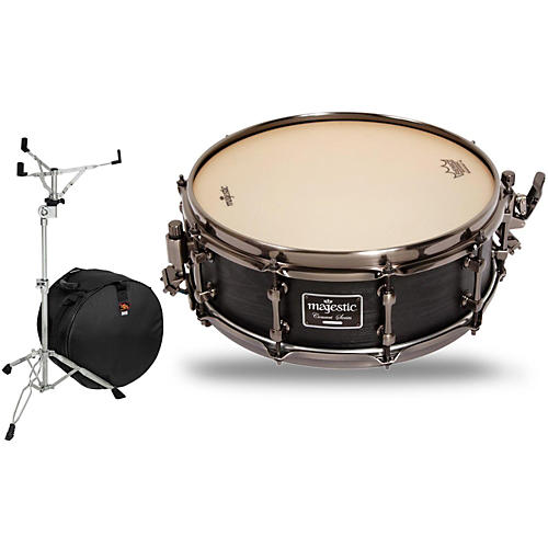 Majestic Concert Black Maple Snare Drum with Stand and Free Bag thumbnail