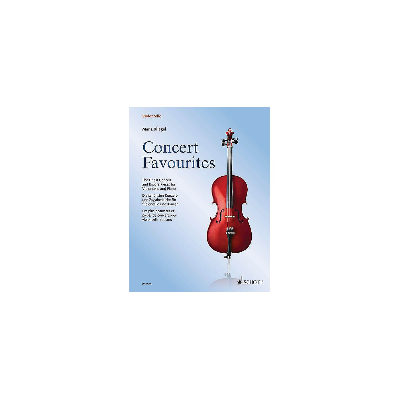 Schott Concert Favorites (Cello and Piano) String Series Softcover thumbnail