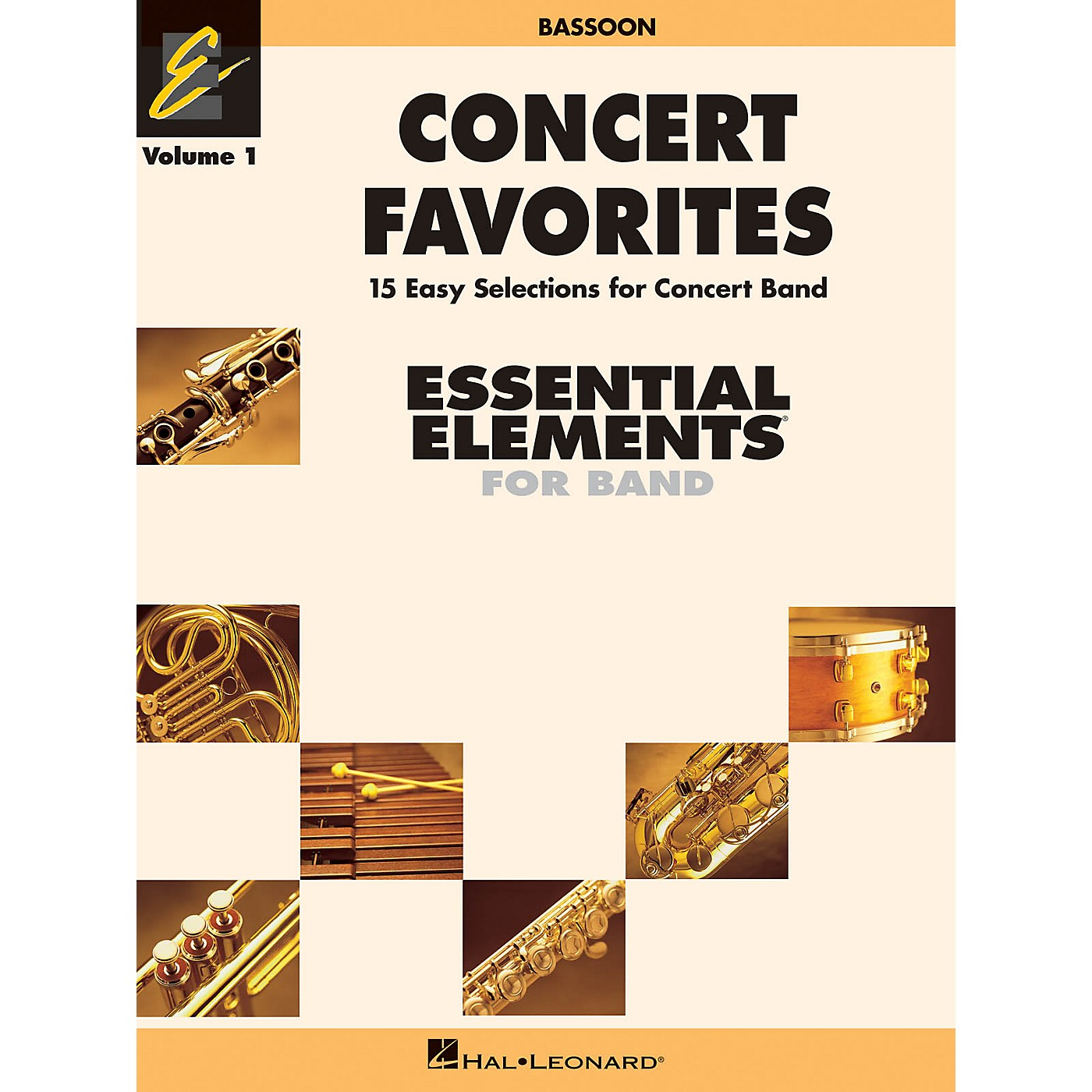 Hal Leonard Concert Favorites Vol. 1 - Bassoon Concert Band Level 1-1.5 Arranged by Michael Sweeney thumbnail