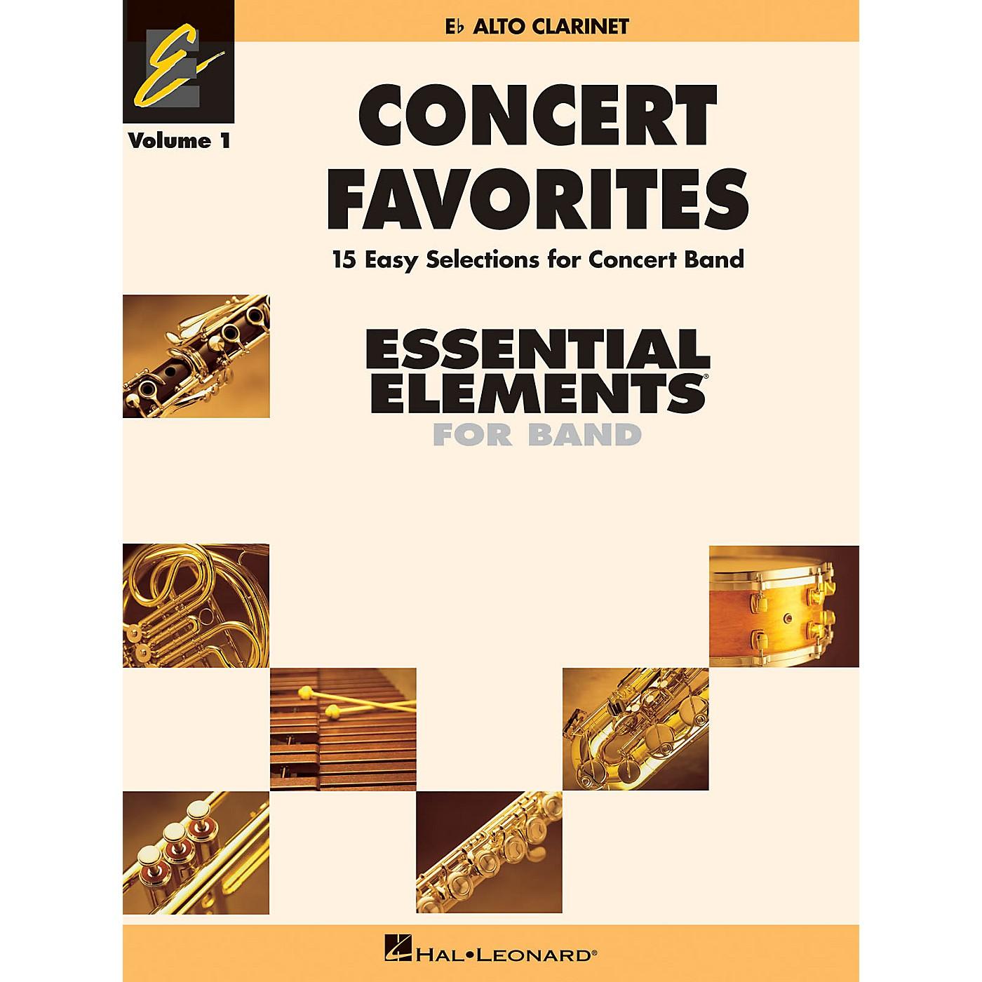 Hal Leonard Concert Favorites Vol. 1 - Eb Alto Clarinet Concert Band Level 1-1.5 Arranged by Michael Sweeney thumbnail
