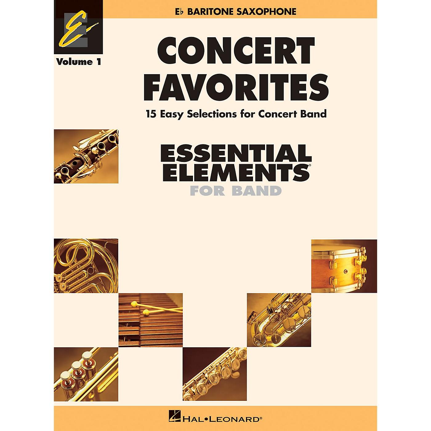 Hal Leonard Concert Favorites Vol. 1 - Eb Baritone Sax Concert Band Level 1-1.5 Arranged by Michael Sweeney thumbnail