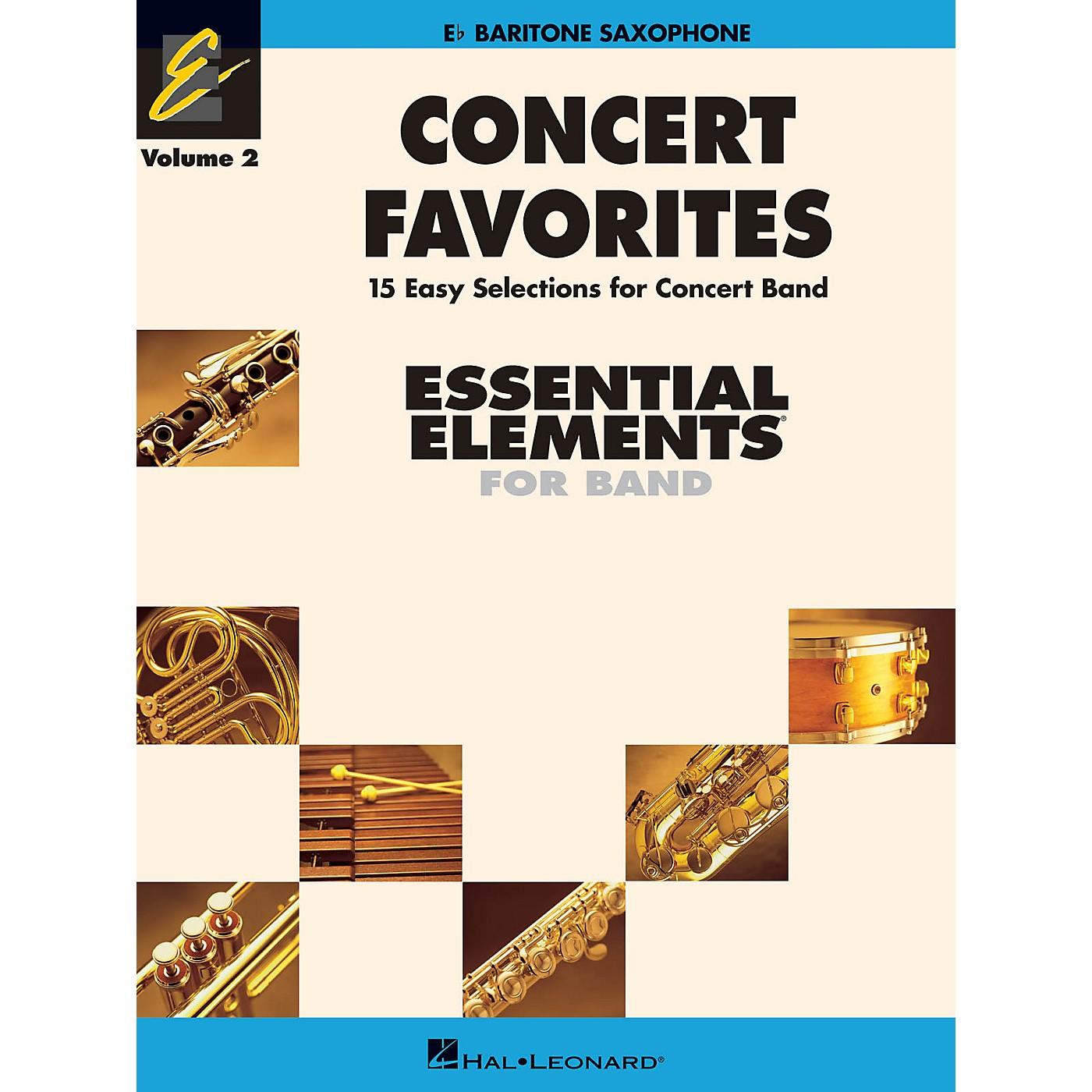 Hal Leonard Concert Favorites Vol. 2 - Baritone Sax Concert Band Level 1-1.5 Arranged by Michael Sweeney thumbnail