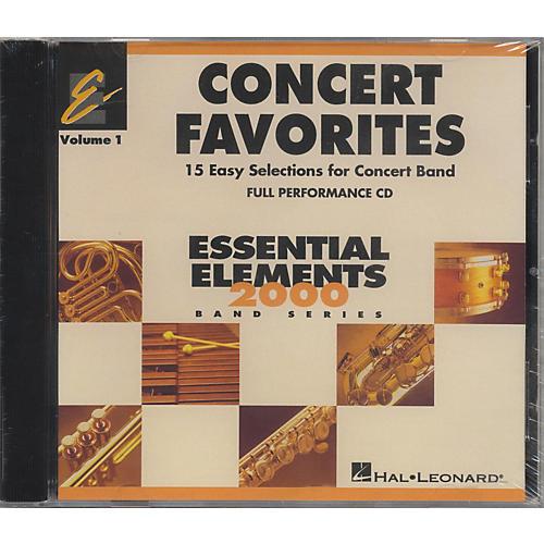 Hal Leonard Concert Favorites Vol1 - CD thumbnail