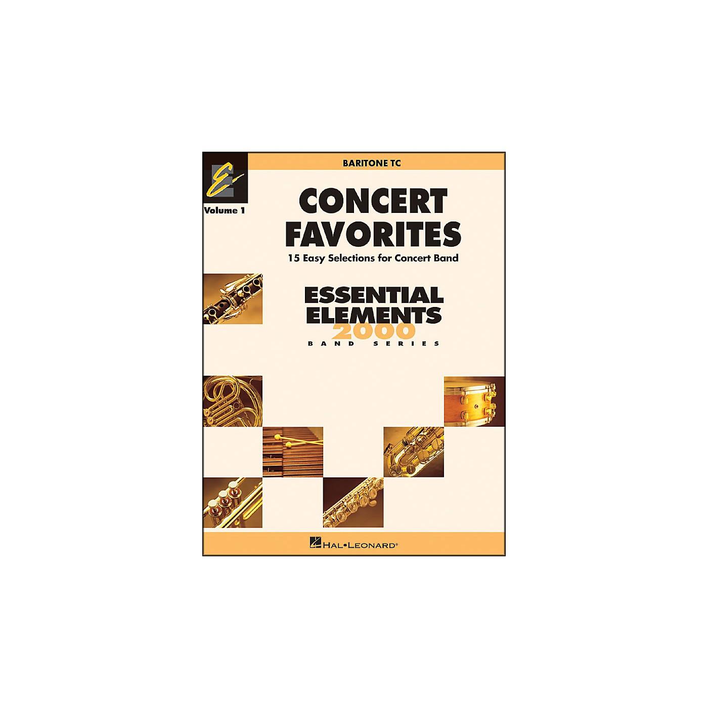 Hal Leonard Concert Favorites Vol1 Baritone T.C. thumbnail