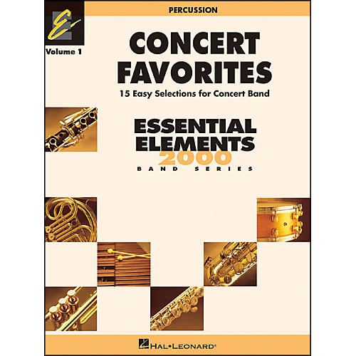 Hal Leonard Concert Favorites Vol1 Percussion 15 Easy Selections for Concert Band thumbnail