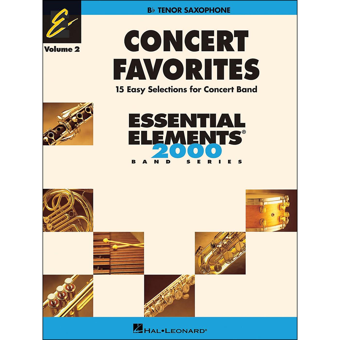Hal Leonard Concert Favorites Volume 2 Tenor Sax Essential Elements Band Series thumbnail