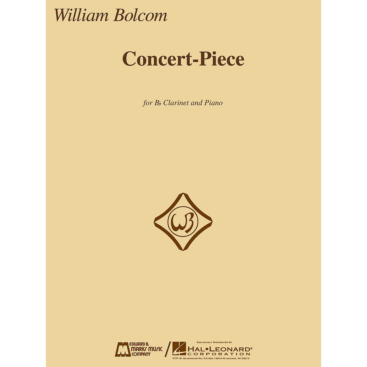 Edward B. Marks Music Company Concert-Piece (B-flat Clarinet and Piano) E.B. Marks Series Softcover thumbnail