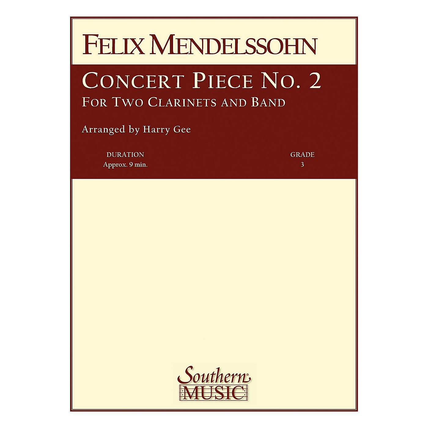 Southern Concert Piece No. 2 Concert Band Level 3 Composed by Felix Mendelssohn Arranged by Harry Gee thumbnail