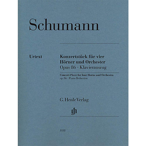 G. Henle Verlag Concert Piece for Four Horns and Orchestra, Op. 86 Henle Music Softcover by Schumann thumbnail