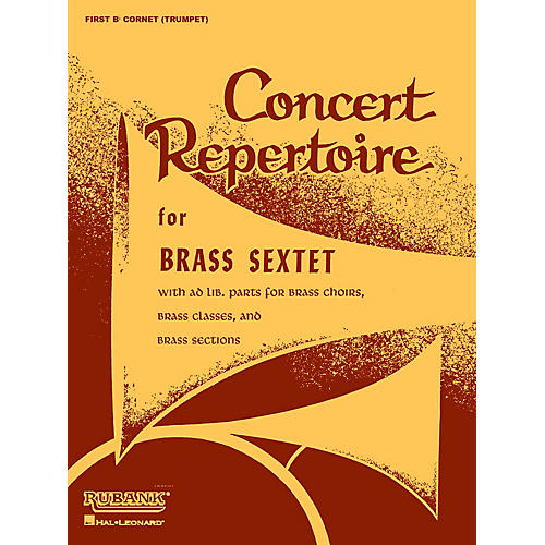 Rubank Publications Concert Repertoire for Brass Sextet (Baritone T.C. (5th Part)) Ensemble Collection Series thumbnail