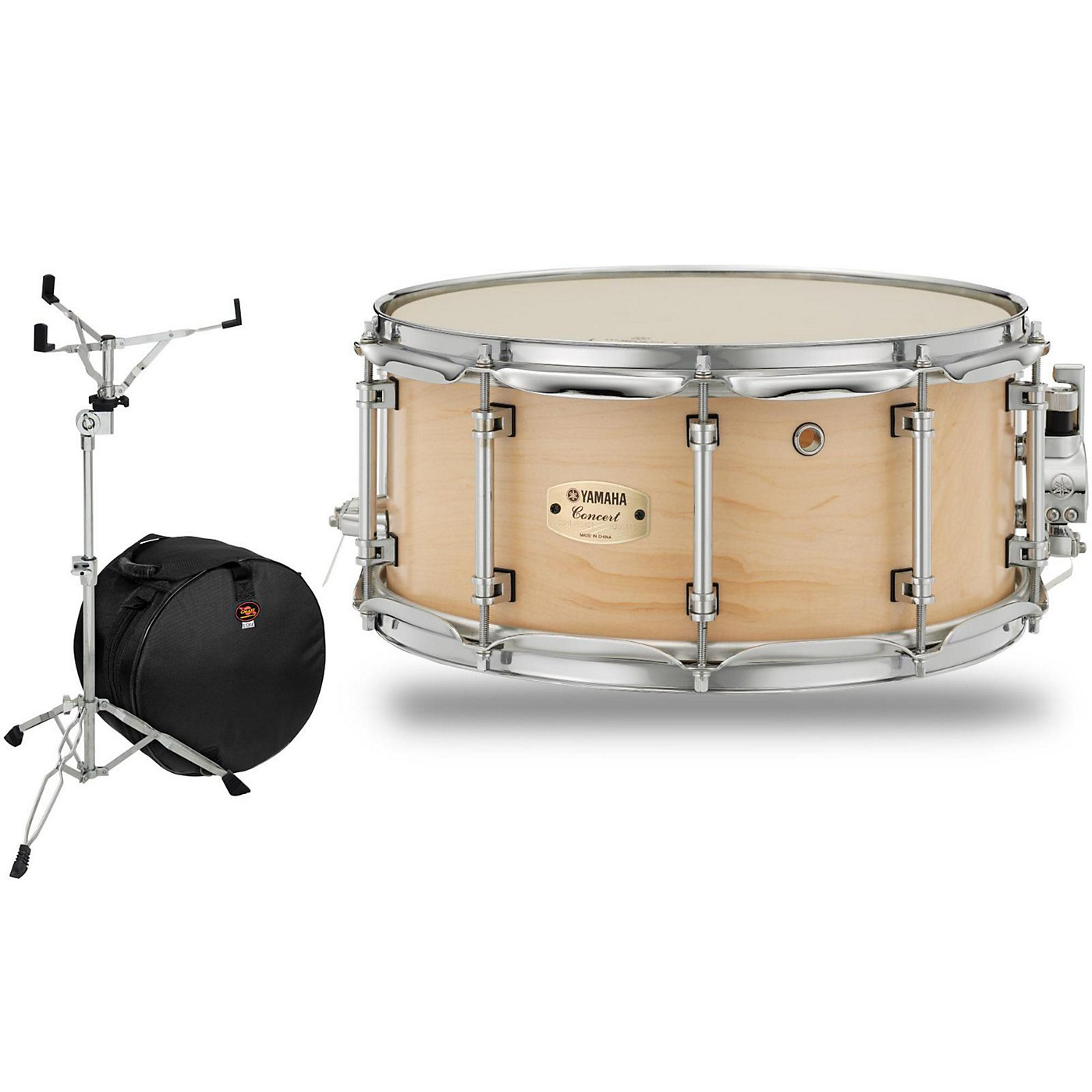 Yamaha Concert Series Maple Snare Drum with Stand and Free Bag thumbnail