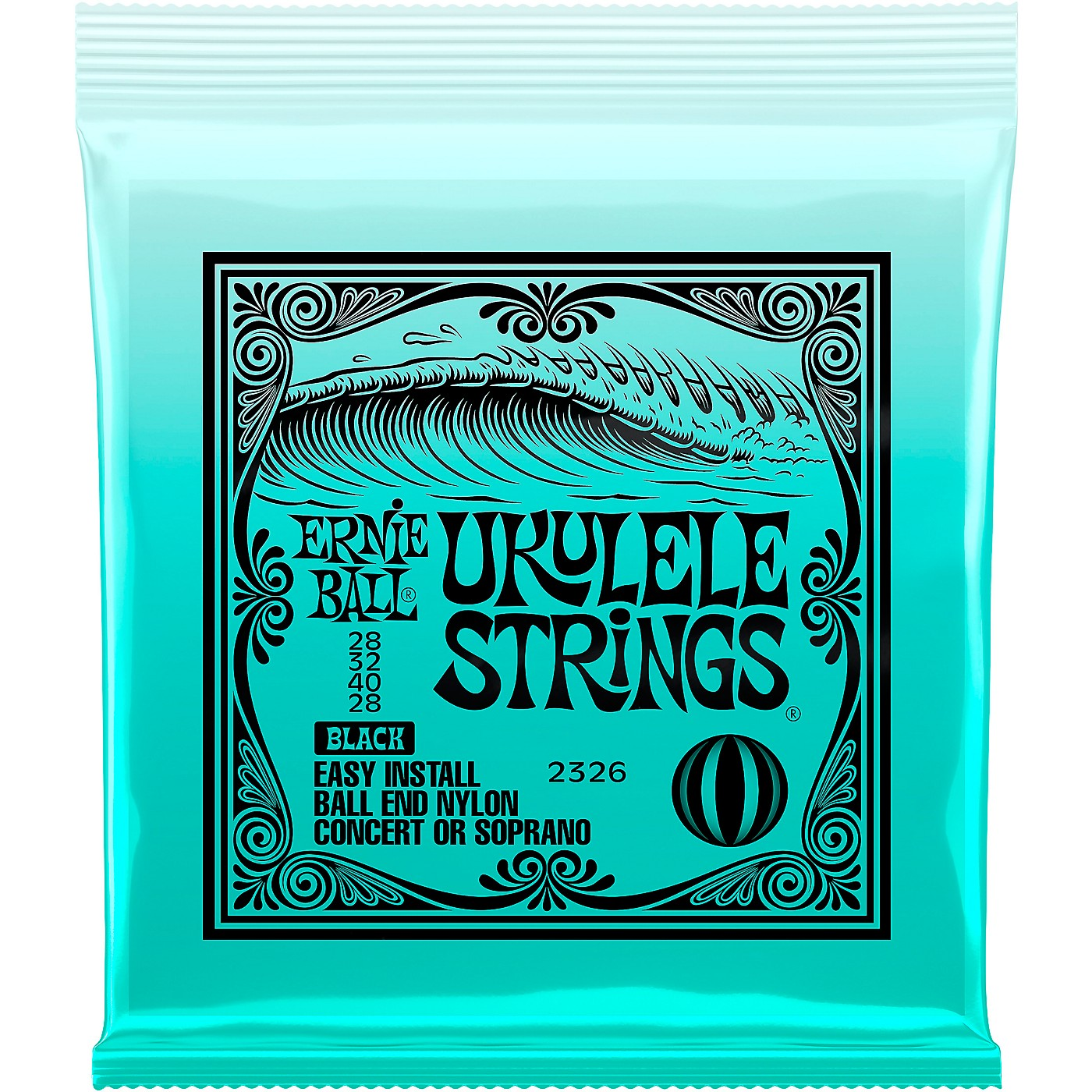 Ernie Ball Concert/Soprano Nylon Ball-End Ukulele Strings - Black thumbnail