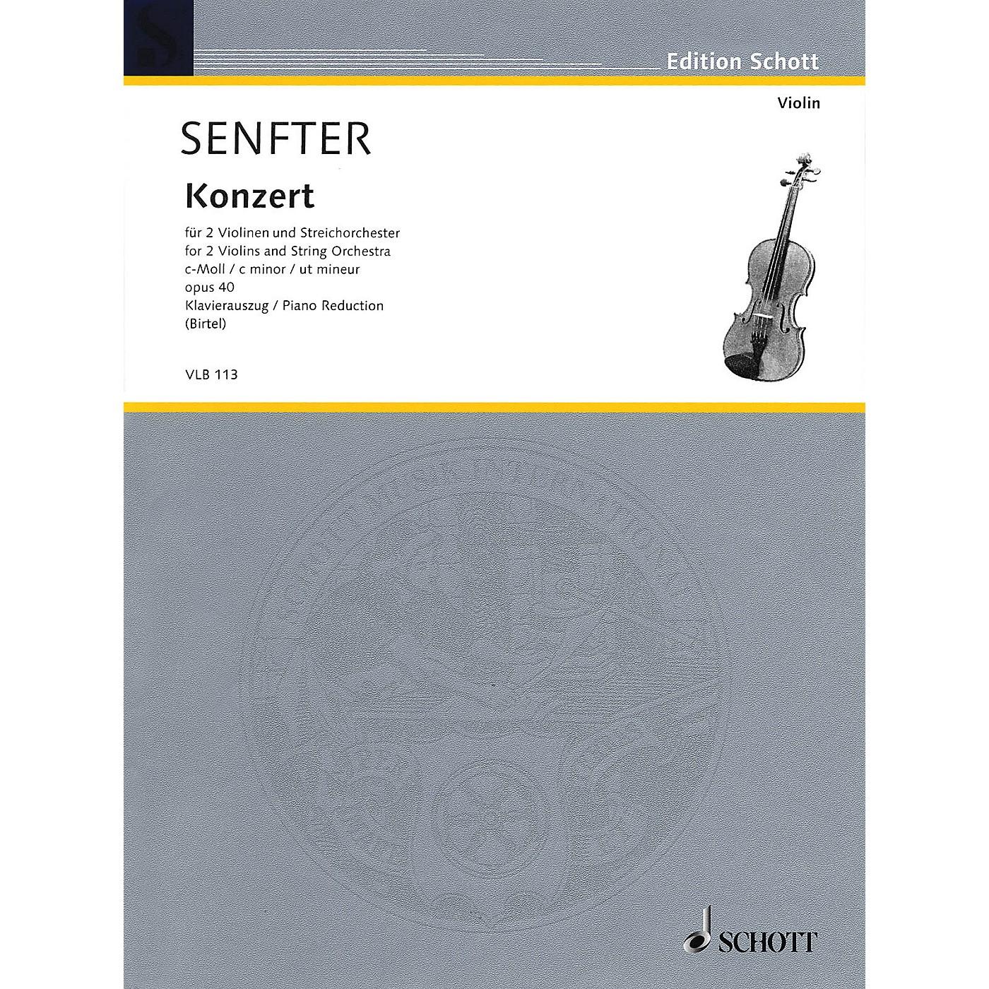 Schott Concert in C Minor, Op. 40 Schott Series Softcover Composed by Johanna Senfter thumbnail