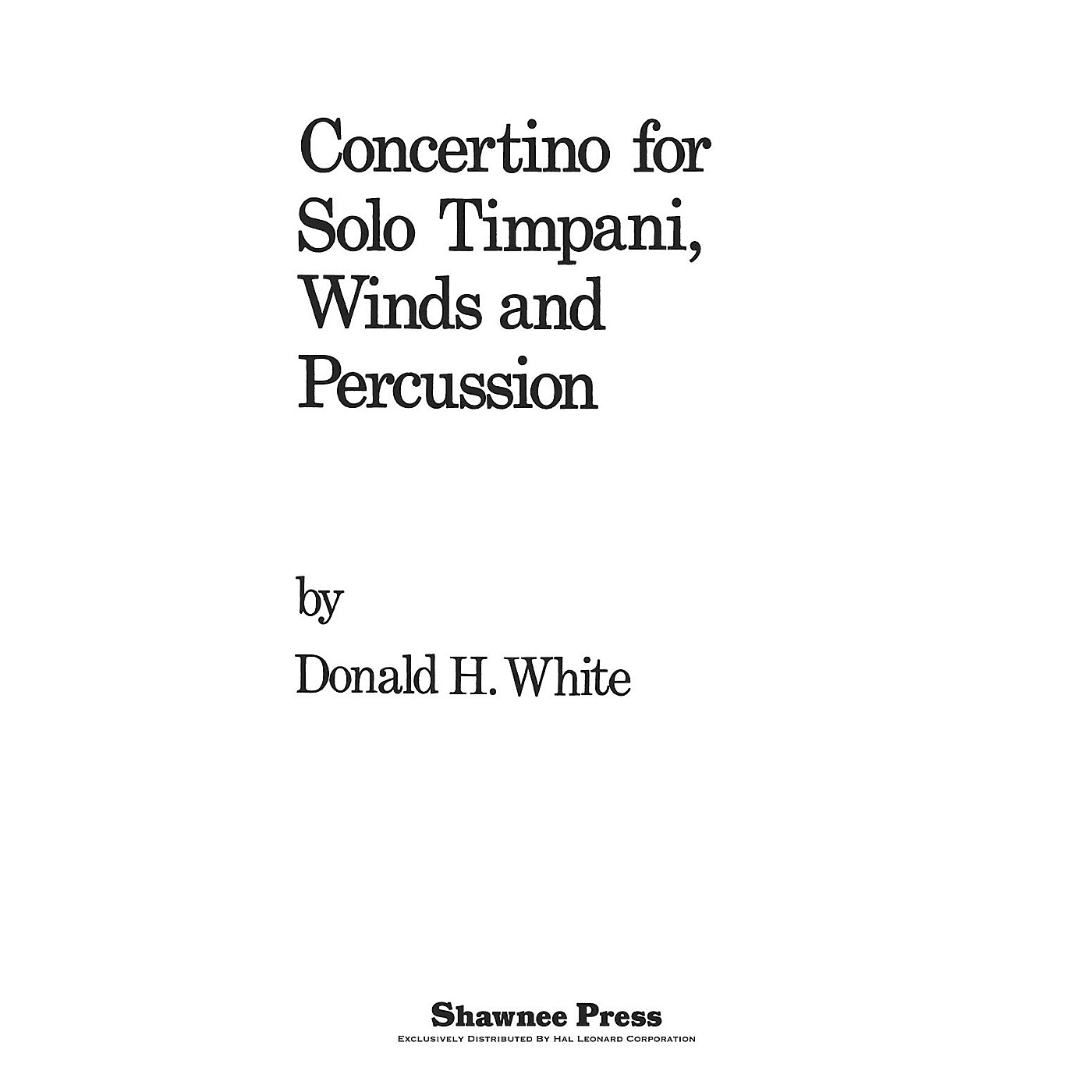 Shawnee Press Concertino For Solo Timpani, Winds And Percussion Concert Band Arranged by Donald thumbnail