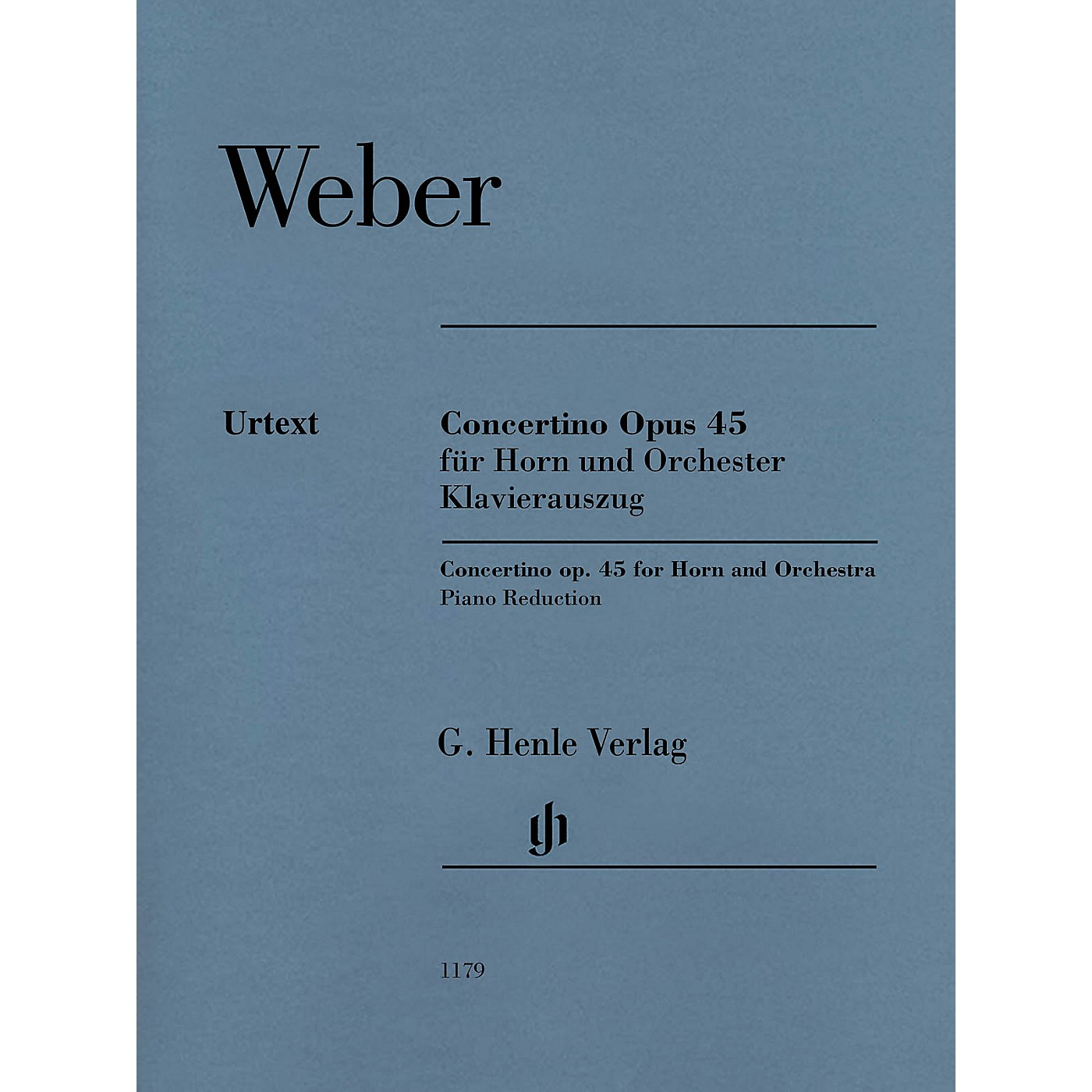 G. Henle Verlag Concertino Op. 45 for Horn and Piano Reduction by Weber thumbnail
