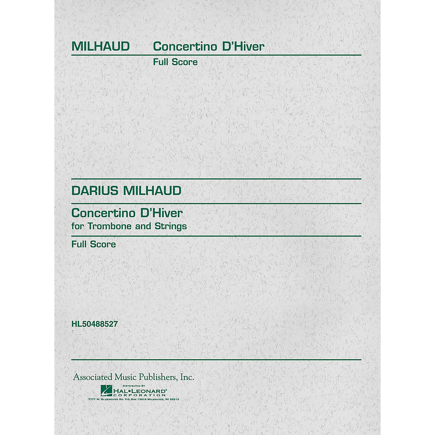 Associated Concertino d'Hiver (Full Score) Study Score Series Composed by Darius Milhaud thumbnail