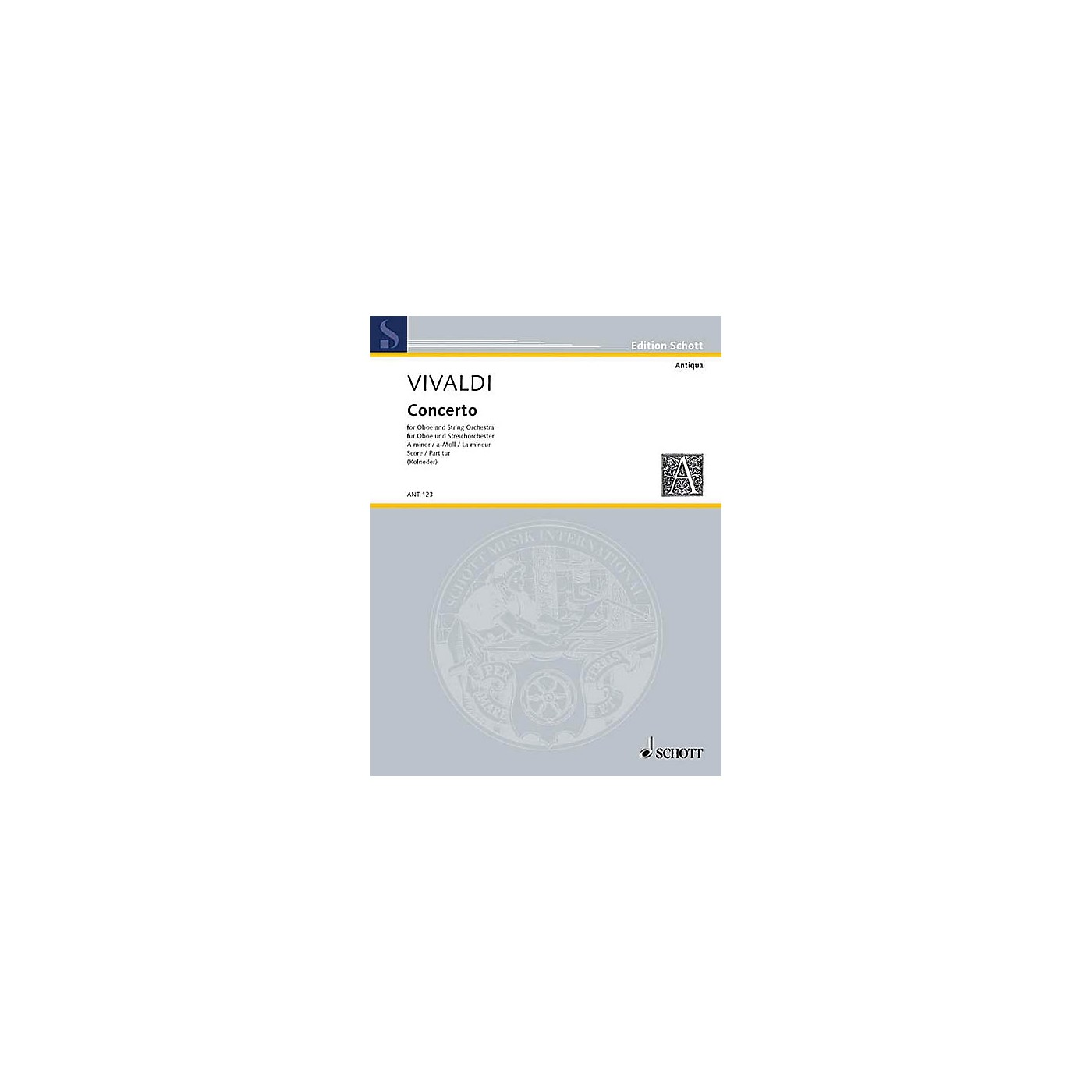 Schott Concerto A Minor RV 461/PV 42 (Score) Schott Series by Antonio Vivaldi thumbnail