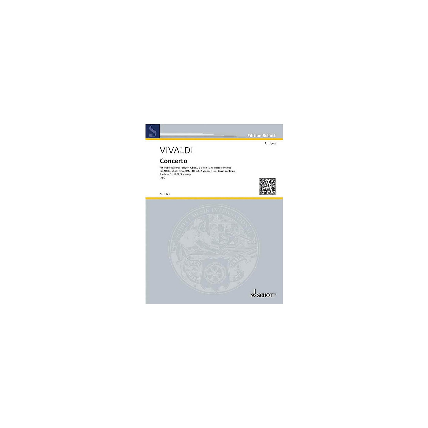 Schott Concerto A Minor (Score and Parts) Schott Series thumbnail