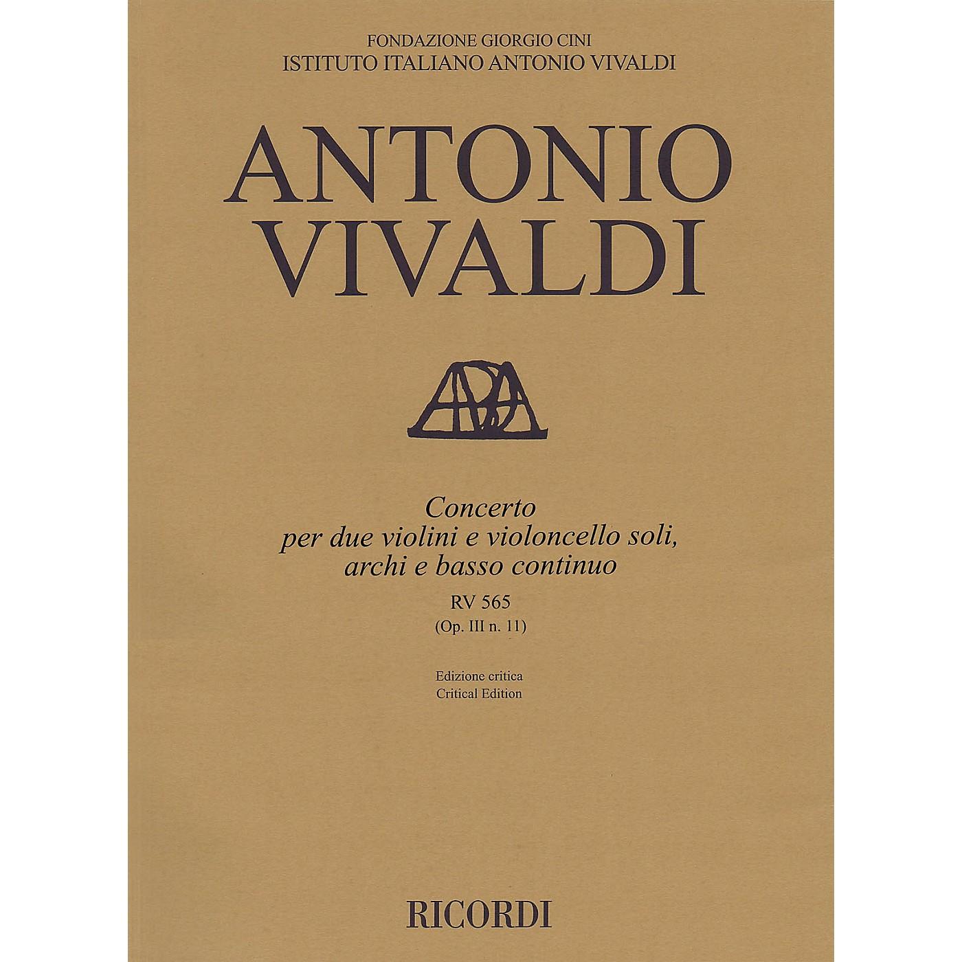 Ricordi Concerto D Minor, RV 565, Op. III, No. 11 String Orchestra Series Softcover Composed by Antonio Vivaldi thumbnail